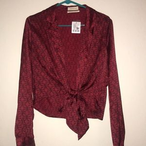 Urban Outfitters Red/ Rouge blouse